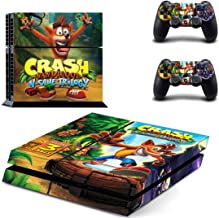 Tokaski® Crash Bandicoot N-Sane Trilogy PS4 Designer Skin Game Console System 2 Controller Decal Vinyl Protective Covers Stickers for Sony PlayStation 4