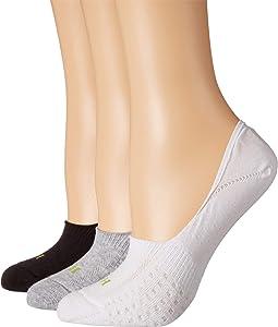 Air Cushion No Show Liner Socks 3-Pair Pack
