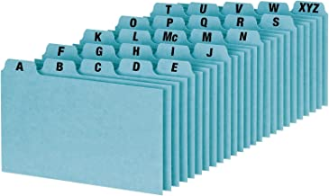 Oxford A-Z Index Card Guide Set, 3 x 5 Inches, Blue Pressboard, 25 per Set (P3525)