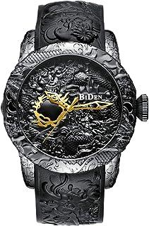 Dilwe Kvartsklockor, 2 färger mans kvalitet utsökt arbetsmenskap vattentät kvartsrörelse armbandsur med justerbart PU-läde...