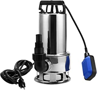 1.5HP Submersible Pumps Stainless Steel Sump Pumps Electric Water Transfer Pump w/ 15ft Cable and Float Switch (US STOCK)