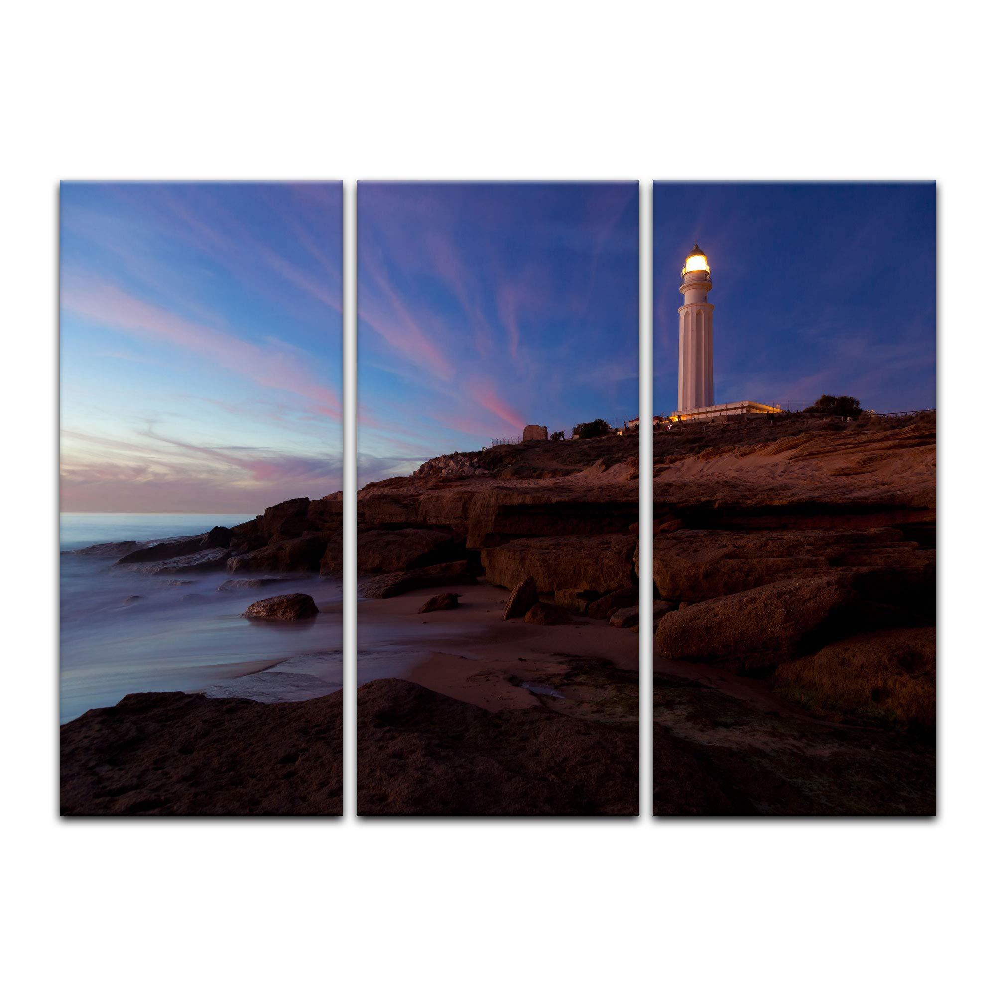 Bilderdepot24 Cuadros en Lienzo Faro de Trafalgar Cadiz - 120 x 80 ...