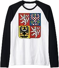 Czech Republic National Coat of Arms Raglan Baseball Tee