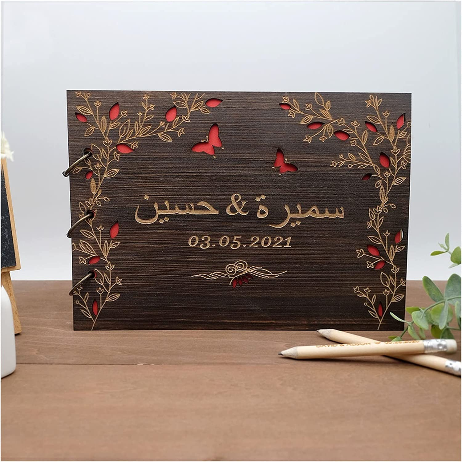 Sales of SALE items from new works HUMINGG Wedding Guest Book High order Personalized Guestbook Weddin