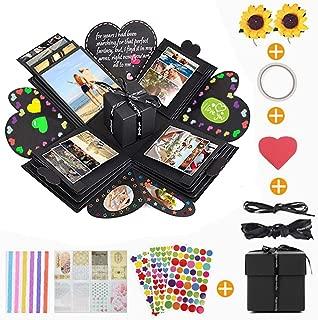 KIPIDA Creative Explosion Gift Box,DIY Handmade Photo Album Scrapbooking Gift Box,Surprise Handmade Gift Box Memories Box for Birthday Party,Wedding,Anniversary Valentine's Day