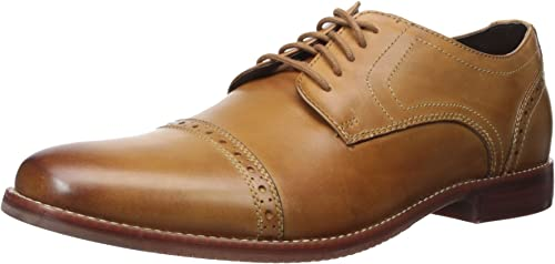 Rockport Men& 039;s Style Purpose Cap Toe Tan 11.5 W (EE)