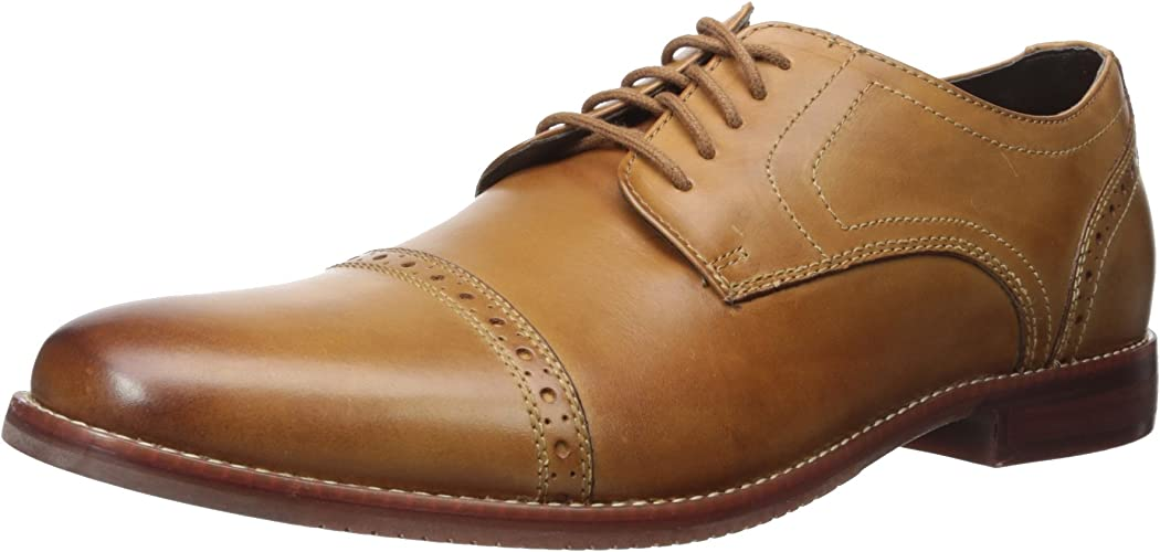 Rockport Men's Style Purpose Cap Toe Tan 11.5 W (EE)