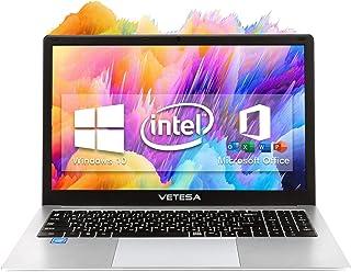 VETESA 2020年秋冬モデル パソコン【Win 10搭載】【MS Office搭載】高性能 CPU インテル N3350/E8000 外付けDVD付属 テンキー付き日本語キーボード 初期設定不要/1.6GHz/メモリー6GB/SSD128...