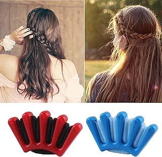 2 PCS DIY Sponge Hair Styling Tools Fast Bun Maker Braider Braid Stylist Hair Roller Accessories Twist Plait Hair Braiding Tool for Women Lady Girls