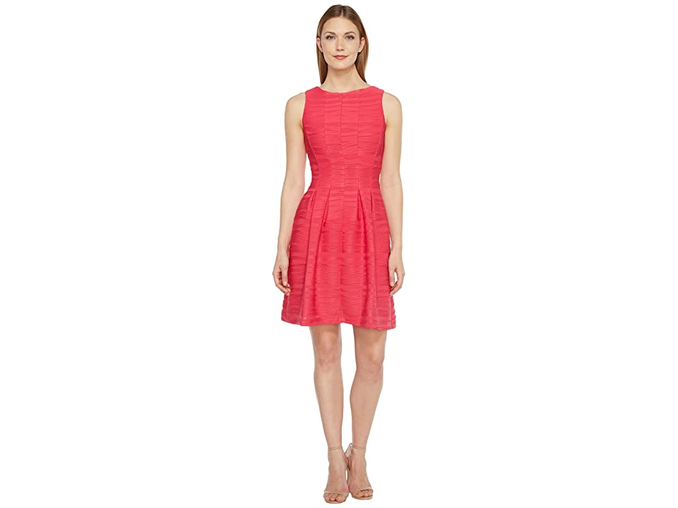Christin Michaels Blanche Sleeveless Fit and Flare Dress (Watermelon) Women
