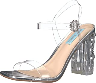 Blue by Betsey Johnson Erika Heeled Sandal Clear