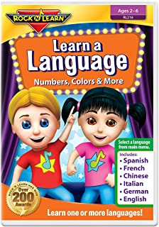 Learn A Language: Numbers, Colors & More by Rock 'N Learn - Spanish, French, Chinese, Italian, German & English 6 languages on