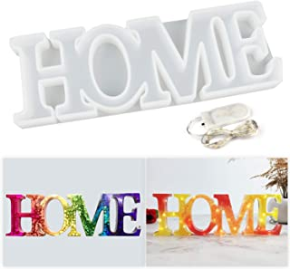 LET'S RESIN Home Mold, Resin Letter Sign Molds, Silicone Resin Casting Molds with a Fairy Light to Sparkle Your DIY Resin Project
