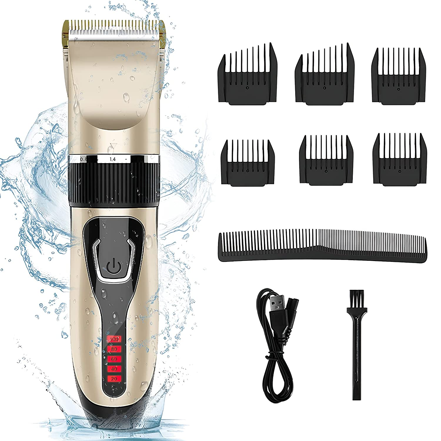 Hair Clipper Memphis Mall Max 45% OFF RUEOO ZCC100 Clippers For Cordless Pro Men -