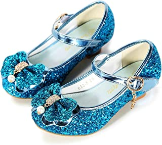 BFOEL Girls Dress Shoes Adorable Sparkle Mary Jane Flats for Wedding Party