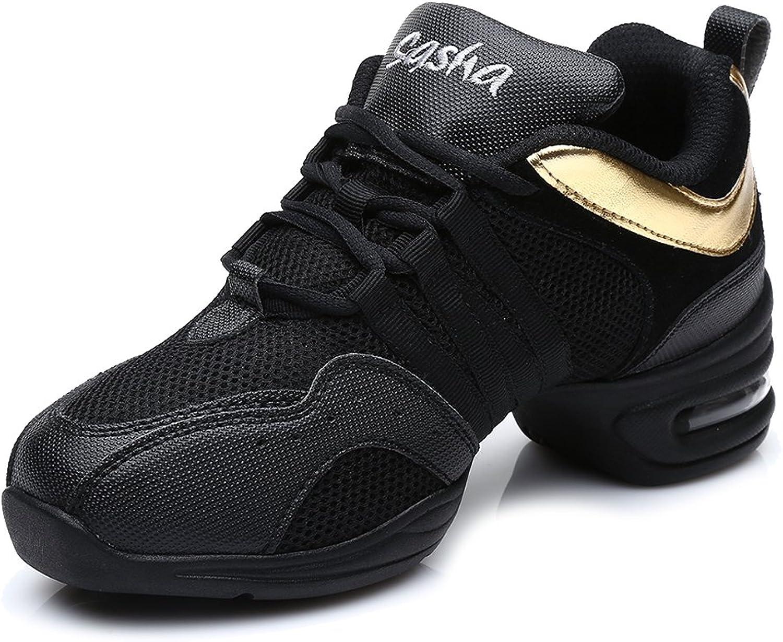 HIPPOSEUS Women's Boost Dance Sneaker Jazz Dance Sneaker Modern Jazz Soft Leather&Mesh Sport Sneaker,Model B5