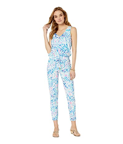 Lilly Pulitzer Paulina Jumpsuit (Breakwater Tint Party Wave) Women