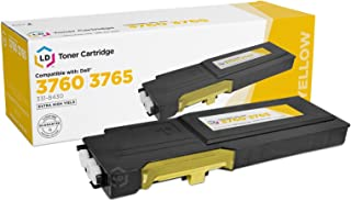 LD Compatible Toner to Replace Dell 331-8430 (MD8G4) Extra High Yield Yellow Toner Cartridge for Dell C3760 and C3765 Laser Printers