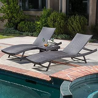 Best kauai wicker 3 piece chaise lounge set Reviews