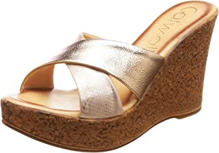 Catwalk Women's Rose Gold Fashion Sandals