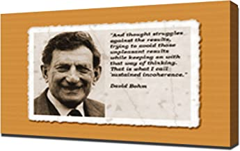 David Bohm Quotes 1 - Canvas Art Print