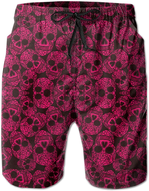 6f37547e4b02cc Rolandracepink Pinky Sugar Skulls Men's Men's Men's Beachwear Summer  Holiday Swim Trunks f7e6a3