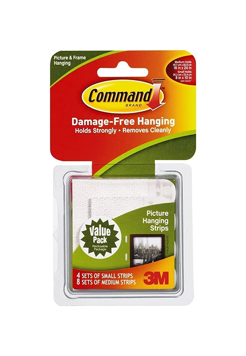 Command Picture Hanging Strips Variety Value Pack, 8-Small and 16-Medium Strips …