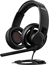 Mpow EG5 Open-Back Gaming Headset, True Lightweight Design, with Detachable Microphone, in-Line Control, Over-Ear Gaming Headphone for PC, PS4, Xbox One, Nintendo Switch (Cooling Breathable Headset)