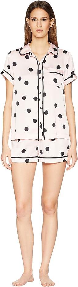 Reina Dot Satin Short Pajama Set