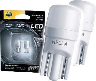 HELLA 921LED 6.5K 6,5000 Kelvin Cool White LED-1W LED Performance Bulbs Set, 12V, 1W, 2 Pack