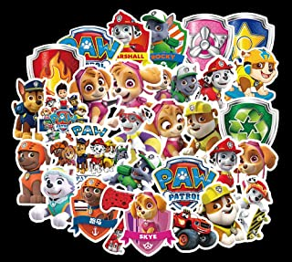 Ratgoo 50 Pcs Waterproof Vinyl Stickers of Cute Dog Paw Patrol to Baby Toddler Infant Kids Teens Boys Girls for Laptop Water Bottle Computer Mac Phone Case Hydro Flask Car Bumper Bicycle Refrigerator