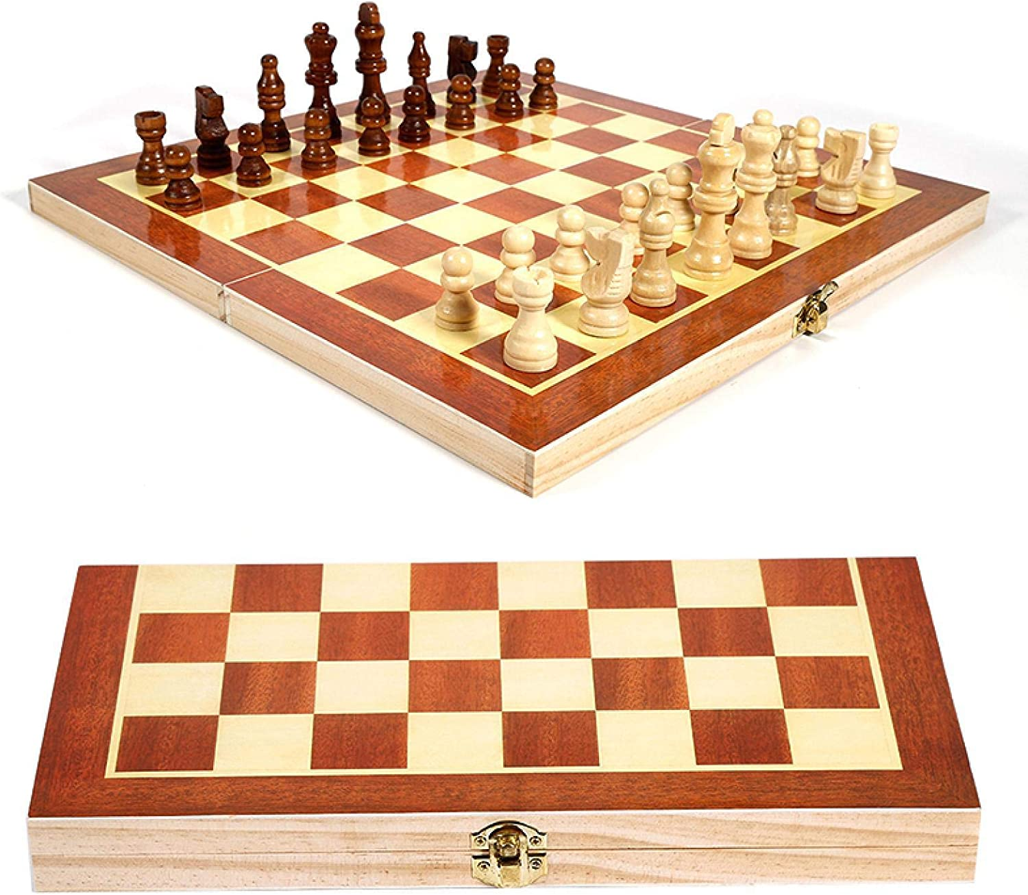 YEYUTF Wooden Chess Set Foldable Tampa Mall Board Time sale for Game