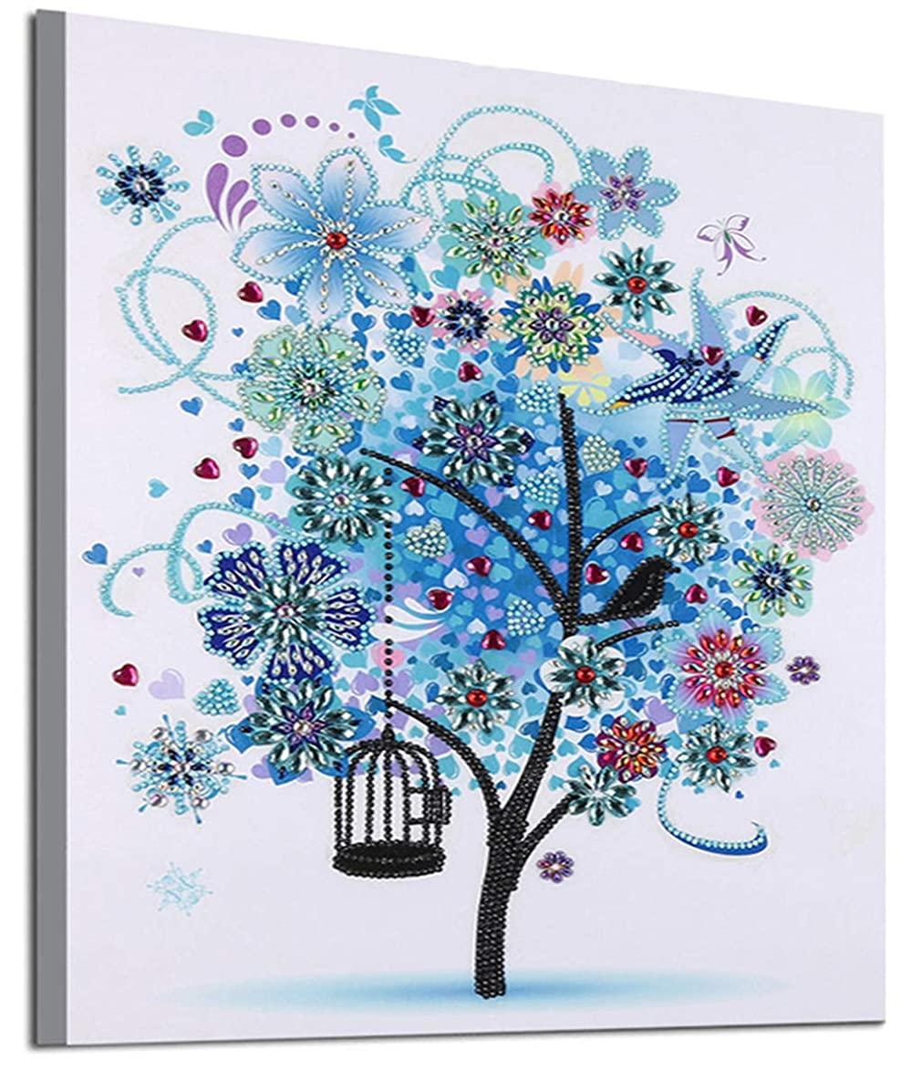 5D Special Shaped Diamond Painting Kit,Section Drill DIY Diamond Rhinestone Painting Kits for Adults and Children Embroidery Arts Craft Home Decor Ross Beauty Colorful Tree (ColorfulTree 4)