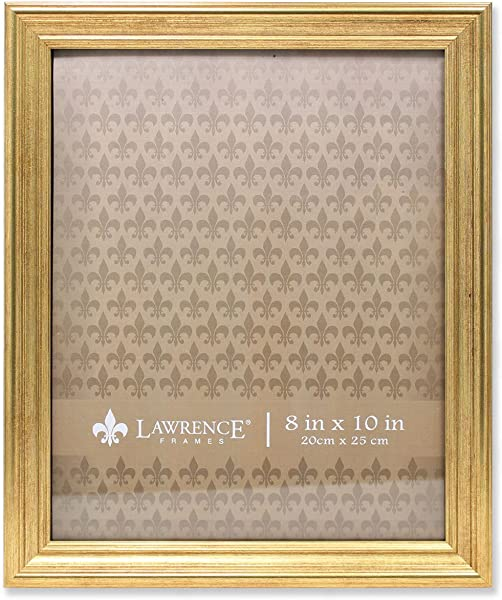 Lawrence Frames Sutter Gold 8x10 Picture Frame 8 By 10 Inch