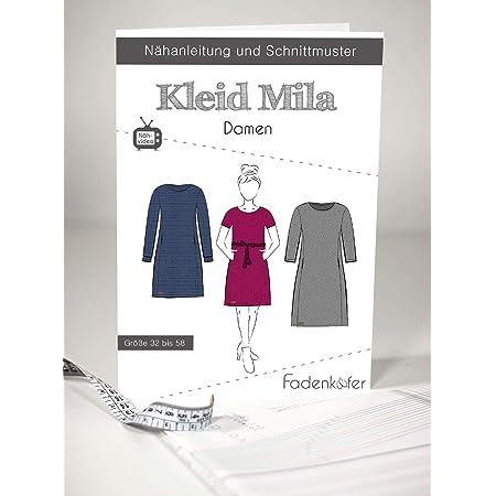 Amazon De Schnittmuster Und Nahanleitung Damen Kleid Mila