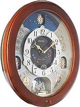 ساعة حائط بندول خشبية تتحرك مع نغم من سيكو، QXM376BR، مقاس 47.5/43.8/10.6 سم