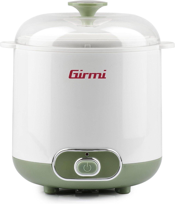 Girmi YG02 Yogurteras-Capacidad 1.5 litro, 20 W, Plastic