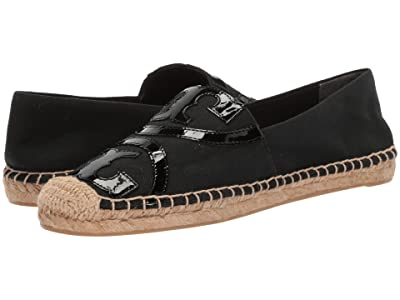 Tory Burch Poppy Espadrille Flat (Black/Black) Women