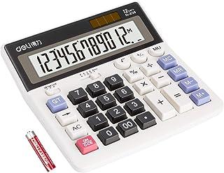 Calculator, Deli Desktop Calculator, Standard Function Calculators with 12 Digit Large LCD Display Big Senstive Button, So...