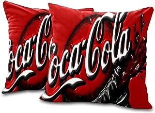 Set of 2 retro Coca-cola ad cushion covers cheap cushion covers