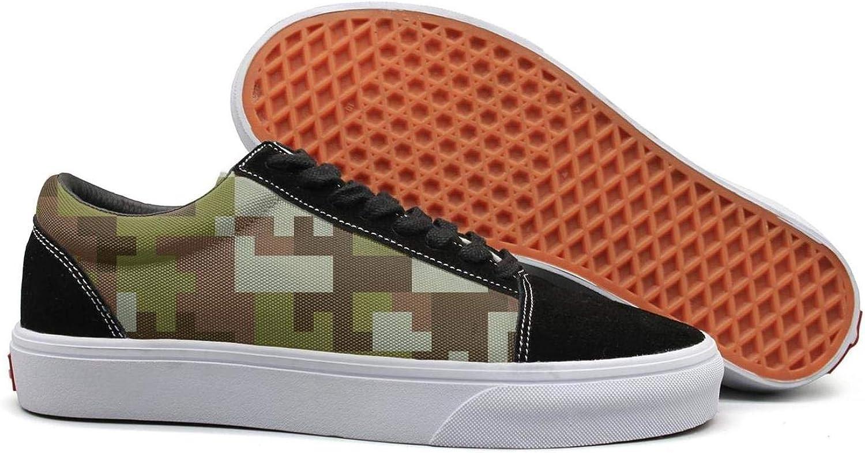 Green Desert Digital camo Womens Lace up Canvas shoes Canvas Upper