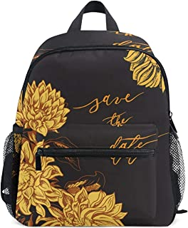 Mini Backpack Yellow Flowers Daypack Lightweight Cute for Boys