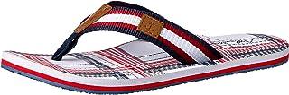 Atlantis Shoes Men's Navigation Plaid Square Thong Sandals