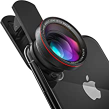 Spectiv 2 in 1 Phone Camera Lens Kit for iPhone, Samsung, Pixel, and Android (Upgraded Design), 0.6X Wide Angle + 15x Macro, Premium Design and Image Quality