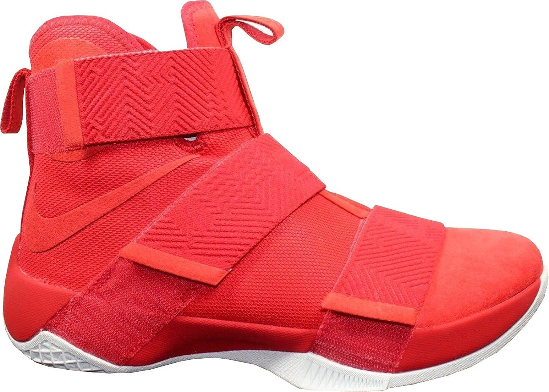 NIKE Mans Lebron Soldier Soldier Soldier 10 SFG Lux University röd Basketball skor 911306 600 Storlek 10  Beställ nu med stor rabatt och gratis leverans