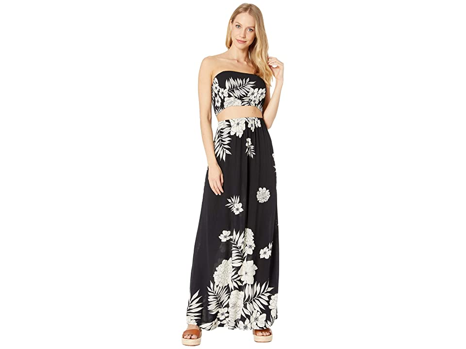 Billabong Slice N Dice Maxi Dress (Black/White) Women