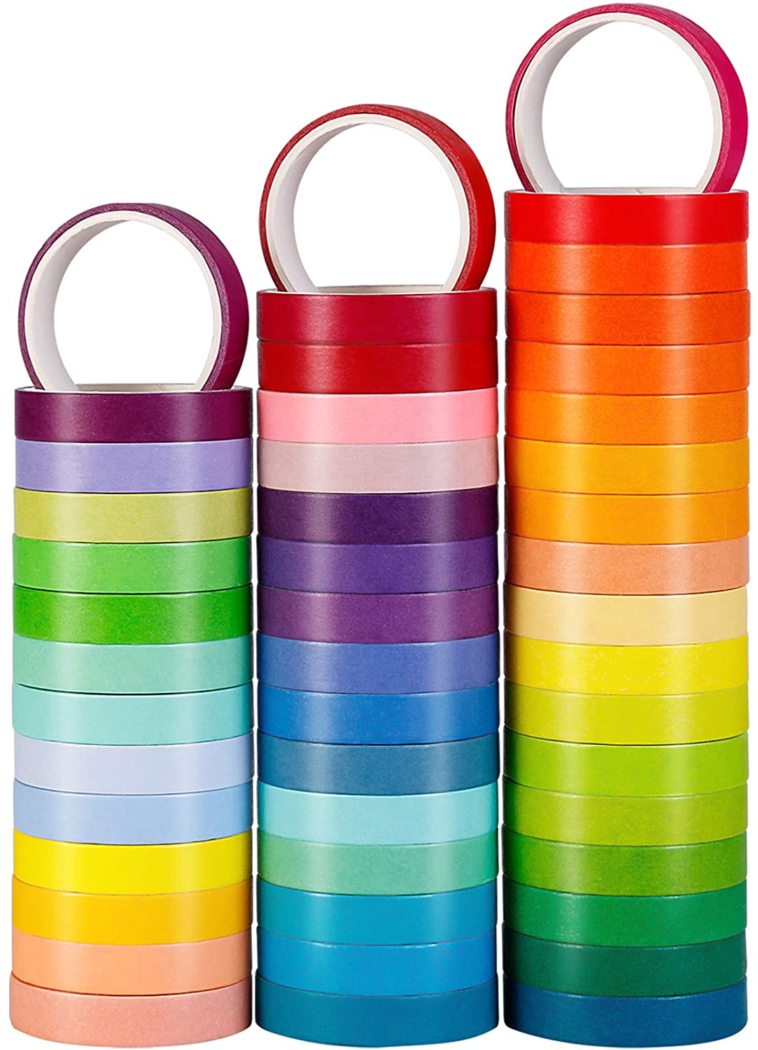 48 Sales of SALE items from new works Rolls Washi Tape Set Color Wash Colorful Free shipping anywhere in the nation Rainbow