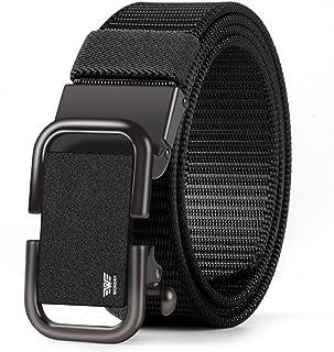 حزام رجالي بسقاطة من WONDAY ، أحزمة شبكية من النايلون للرجال مع إبزيم منزلق تلقائي للخدمة / العمل / ملابس عادية