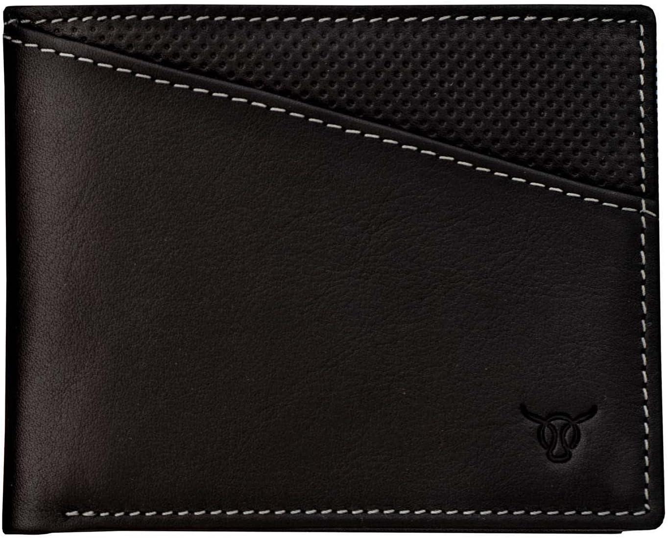 Vasa Midnight Horizontal Top Grain Leather Wallets For Men - European Luxury Minimalist Bifold Wallet with RFID and NFC Blocking Credit Card Holder - Premium Mens Slim Bi Fold Pocket Wallet