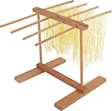 Pasta Drying Rack Wooden Noodle Spaghetti Holder Pasta Dryer Stand for Kitchen Household Hanging Dryer Fresh Noodle (Pasta...